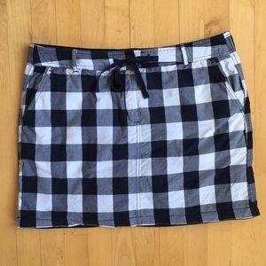 2/$20 Reversible cotton navy white miniskirt sz XL